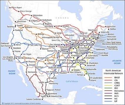 intermodal network map