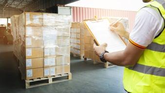 Pallet of LTL freight
