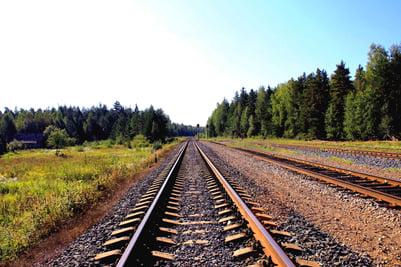 railroad tracks for intermodal transportation