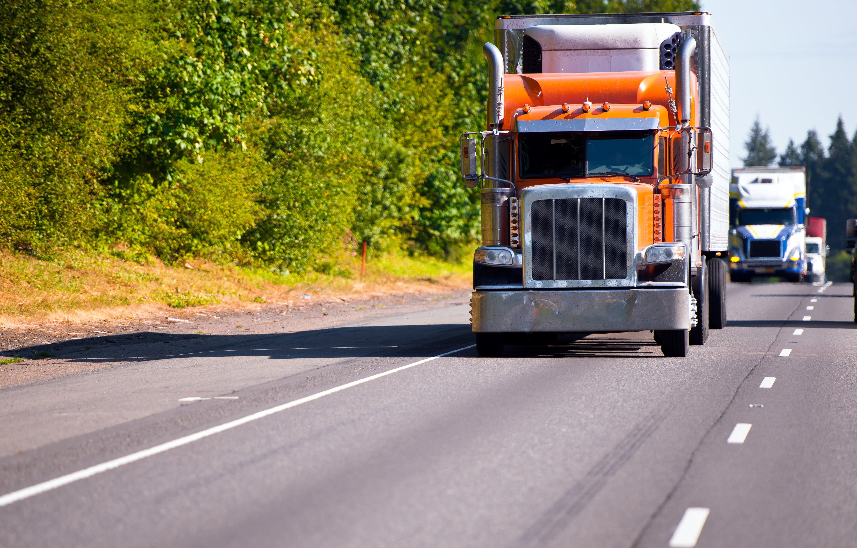 Trucks on the road