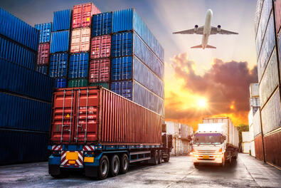 truck, train and air freight